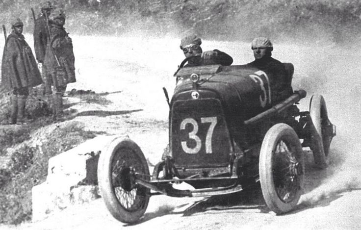 1922 TARGA FLORIO - Alfa Romeo ES. Entrant: Alfa Corse. Driver: Enzo Ferrari. Place: 16th o/a.