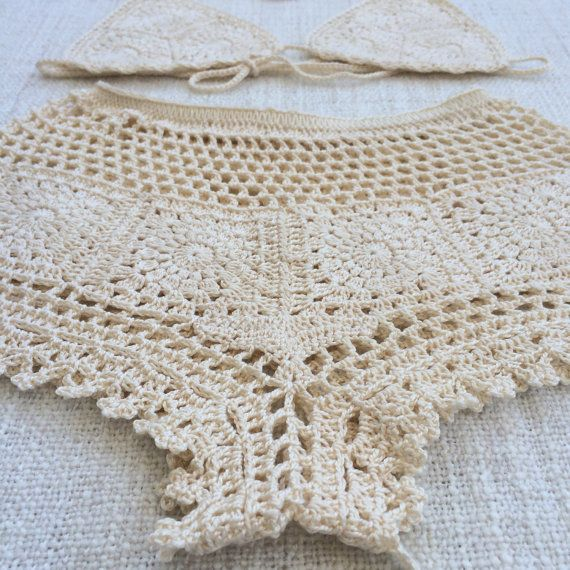 598 best bikinis tejidas images on Pinterest | Beach playsuit ...