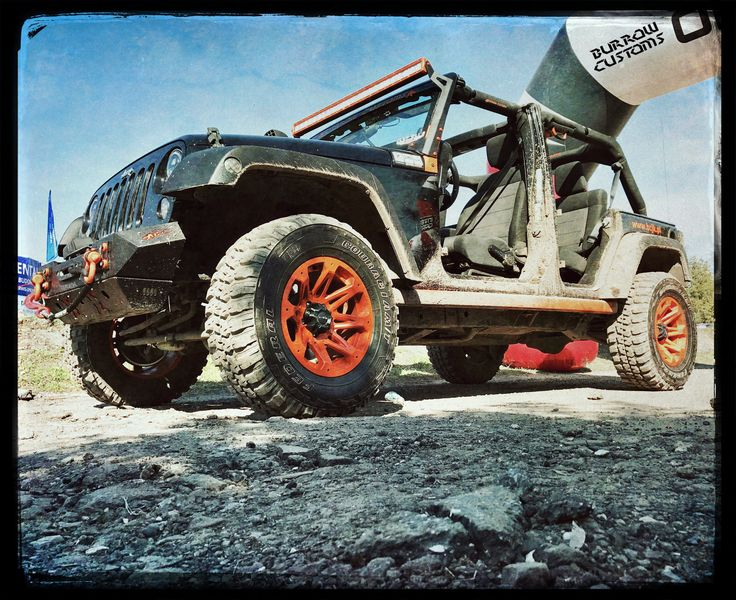 Wheels Ballistic, Tires Federal, Winch Smittybilt, Bumpers Burrow Customs Jeep Wrangler Unlimited & NODOOR