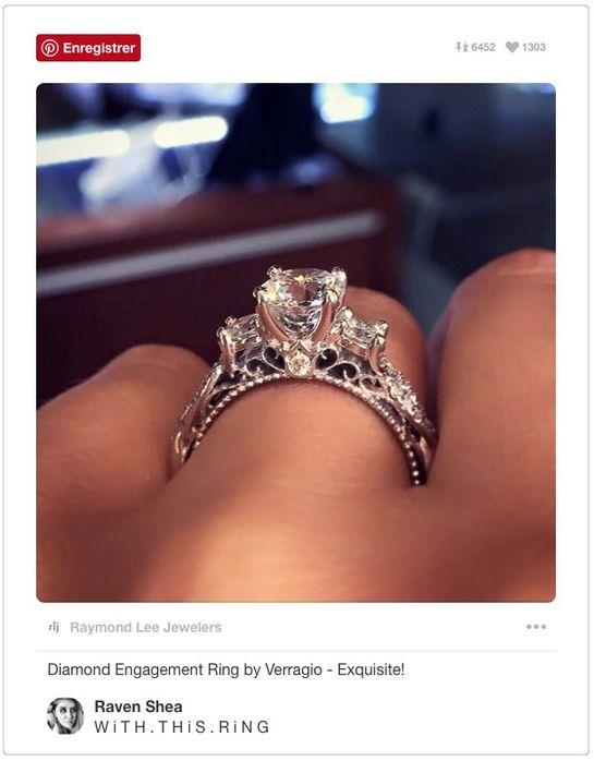 bague de fiançailles sur Pinterest                                                                                                                                                                                 Plus
