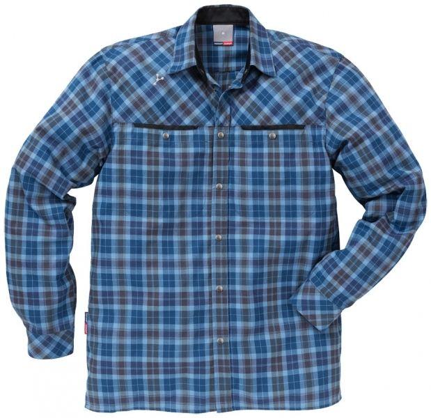 Lækker arbejdsskjorte med Cocona - Fristads Kansas skjorte Gen Y Cocona®, blå ternet (110311-109) - Overdele - BILLIG-ARBEJDSTØJ.DK
