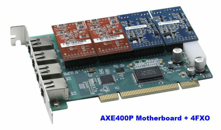 Digium card AXE400P with 4FXO ports included Supports up to 4FXO/FXS ports PCI Express Card  for Asterisk PBX