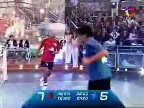 Messi & Tevez VS Maradona & Enzo