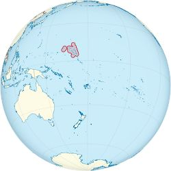 Marshall Islands, officially the Republic of the Marshall Islands  is an island country located near the equator in the Pacific Ocean, slightly west of the International Date Line. Geographically, the country is part of the larger island group of Micronesia. The country's population of 53,158 people (at the 2011 Census) is spread out over 29 coral atolls, comprising 1,156 individual islands and islets.