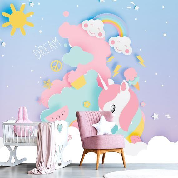 Unicorn Fields Pink Unicorn Wallpaper Unicorn Wallpaper Wallpaper
