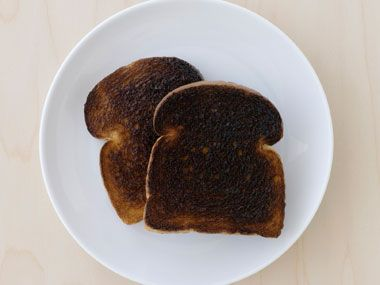 Burnt Toast - You know that toast is good for an upset stomach, but burnt toast is even better because the char absorbs toxins that are making you feel ill. Add a smear of jelly to make it more palatable.