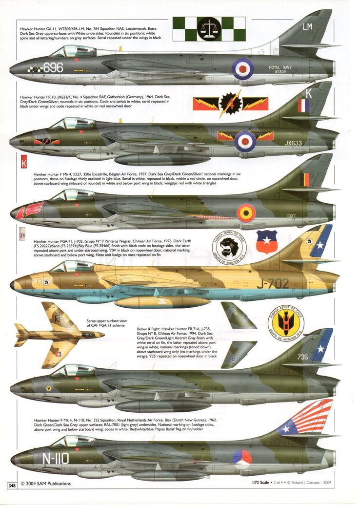 Hawker Hunter - Single Seaters
