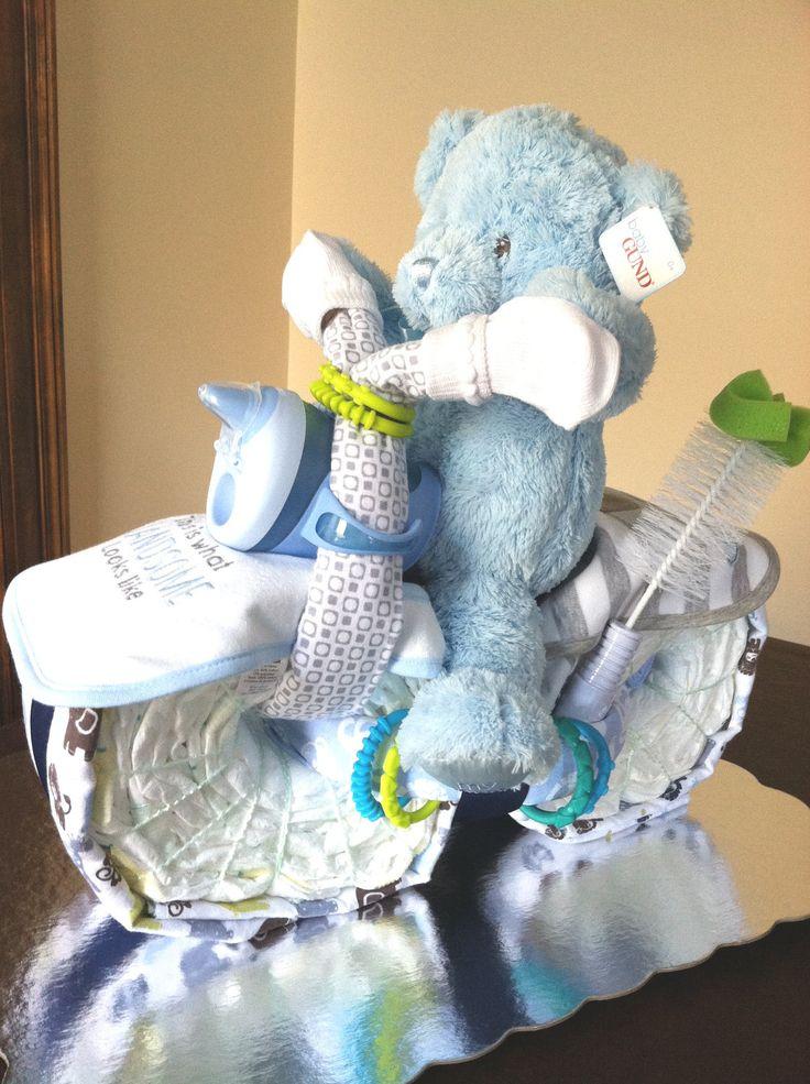 pinterest baby boy shower ideas | Boys Motorcycle Diaper ...