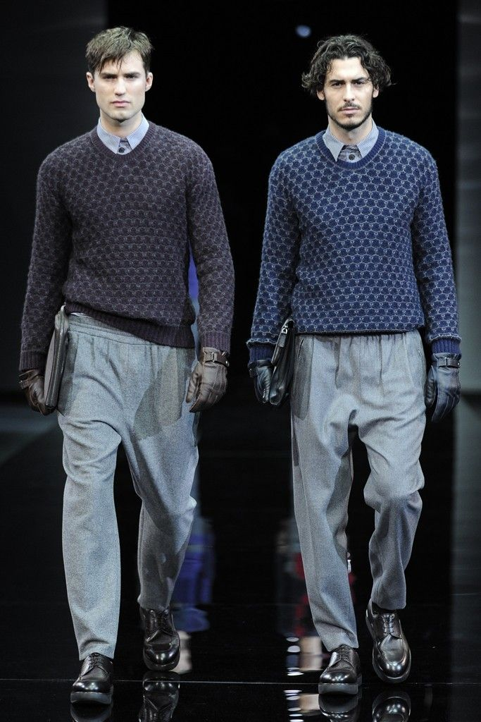 Giorgio Armani Men's RTW Fall 2014 - Slideshow - Runway, Fashion Week, Fashion Shows, Reviews and Fashion Images - WWD.com