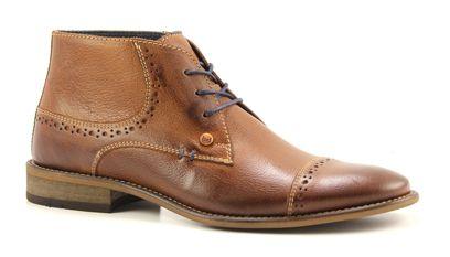 Braend step 423050 bruine veter schoenen