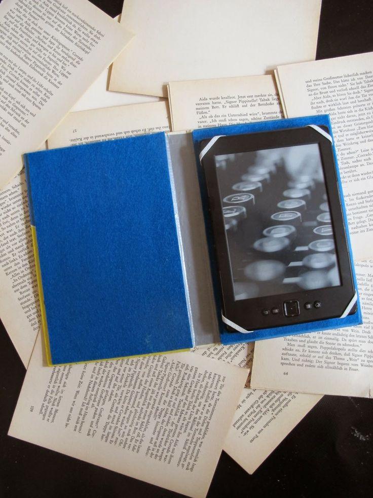 Ebook-Reader-Hülle aus altem Buch / Ereader cover made of old book / Upcycling