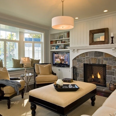 Traditional mantle built ins design pictures remodel - Beautiful living rooms with fireplace ...