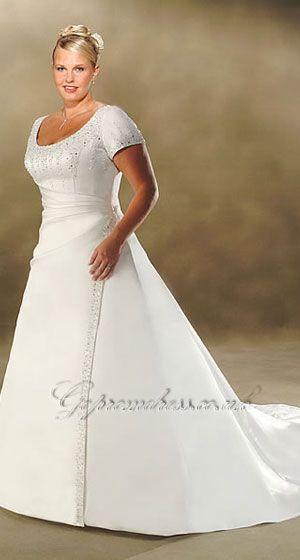 i like it .... plus size wedding dress with sleeves