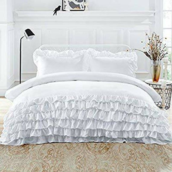 Hey I Found This Really Awesome Etsy Listing At Https Www Etsy Com Listing 654208528 Indian Simple Opulence 600tc Ruffle Duvet Cover Bed Queen Duvet Covers