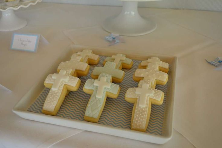 First Communion Baptism Party Ideas | Photo 15 of 16 | Catch My Party