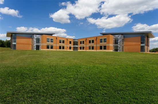 Princeton Middle School and High School located in Cincinnati, Ohio. Designed by CR architecture + design.