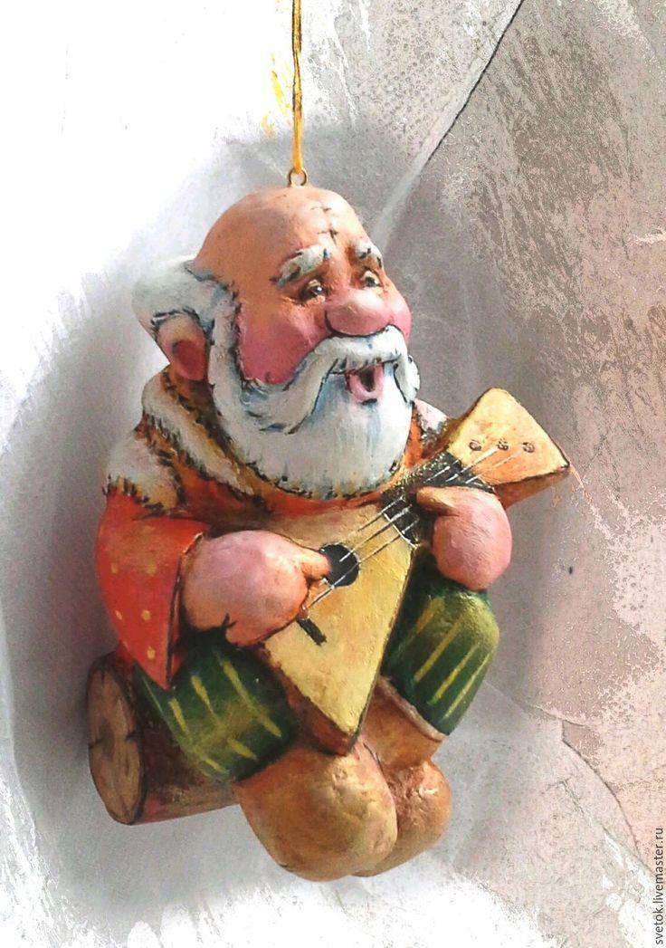 Купить елочная игрушка из папье-маше - Папье-маше, акриловые краски, акрил, лак, бумага