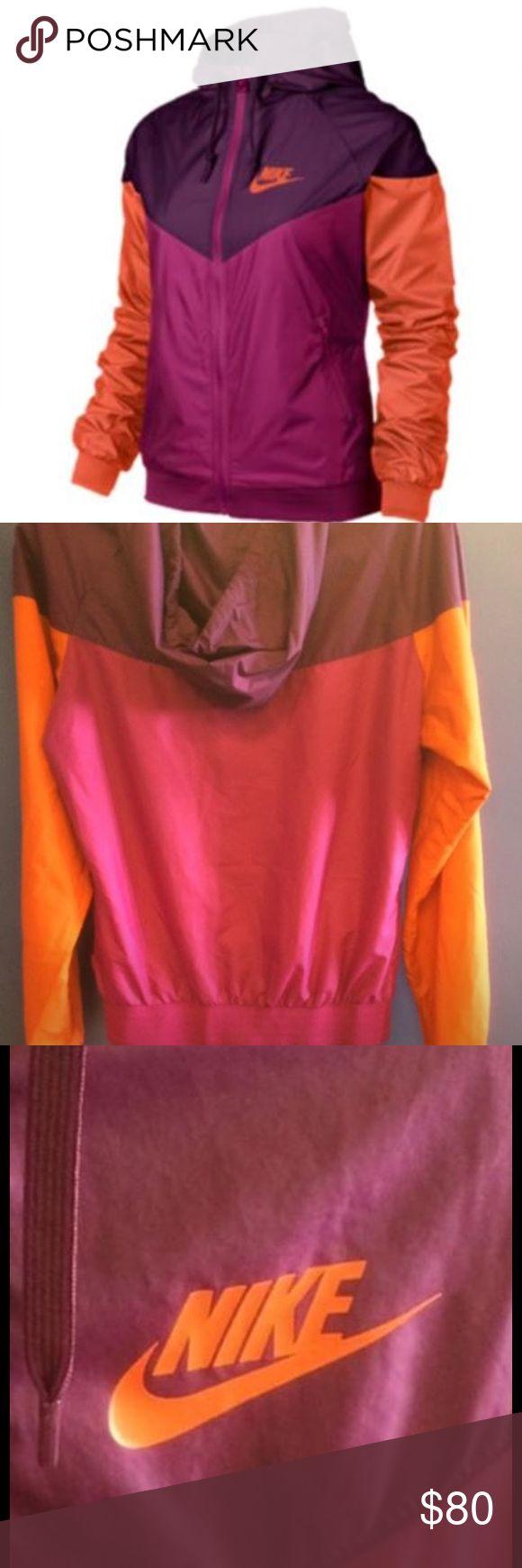 Authentic-Nike windbreaker SIZE SMALL Nike Windrunner Jacket - Women's - Sport Fuchsia/Mulberry/Electro orange 🍊 Nike Jackets & Coats