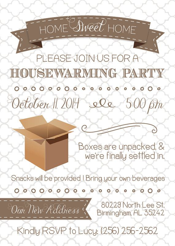 Best House Warming Invitations Images On   House