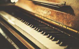 retro vintage photo old piano the old piano key vintage retro