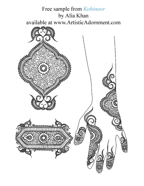 Kohinoor - By Alia Khan - $10.00 : Artistic Adornment, Henna Supplies - henna tattoo kits, henna powder, professional mehndi supplies