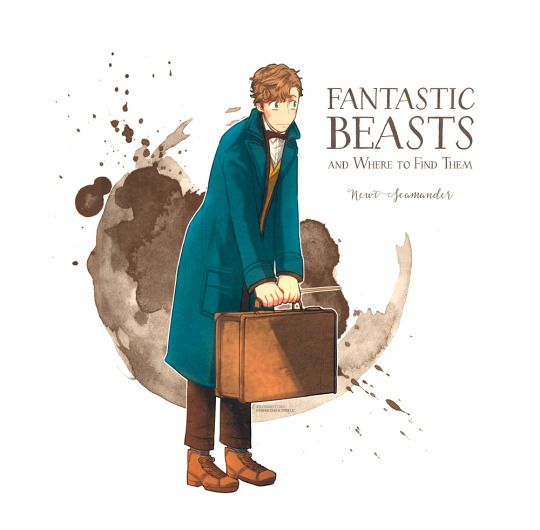 Newt Scamander. (WC: To my dear followers, I now have a Fantastic Beasts board if you would like to follow that as well. I will pin all the latest news and pics I can find, including fanart. Thanks! ILY!)