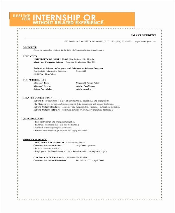 Resumes For College Freshmen Awesome Sample Resume For College Student 10 Examples In Word Pdf Freshman College Resume Internship Resume