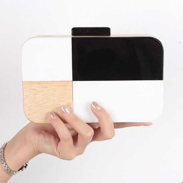 New wooden box clutch to suit your occasions.