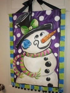 affordable jewelry online shopping snowman painting   30 00  via Etsy