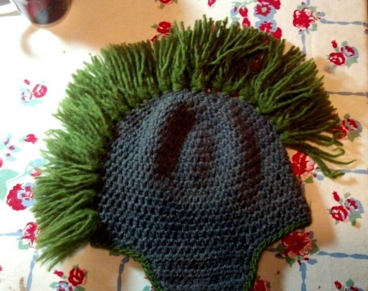 Knit Mohawk Hat Pattern : Crocheted mohawk hat. Knit Projects Pinterest