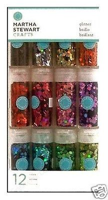 MARTHA-STEWART-CRAFTS-HEX-GLITTER-SET-12-Colors-BEAUTIFUL