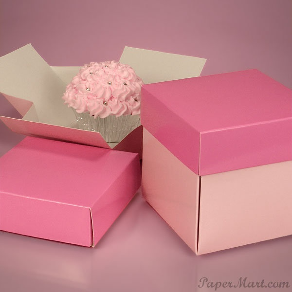 Individual Pink Cupcake Box