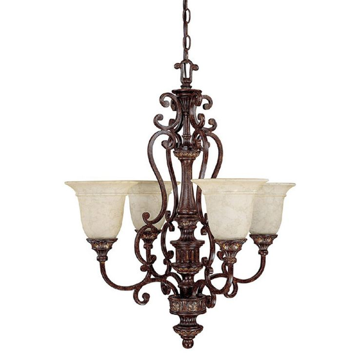 View the Capital Lighting 3634-283 Chesterfield 4 Light 1 Tier Chandelier at LightingDirect.com.
