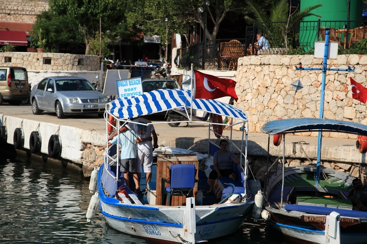Get a water taxi to the many beach clubs around Kalkan bay.  #Kalkan #Turkey #Holiday