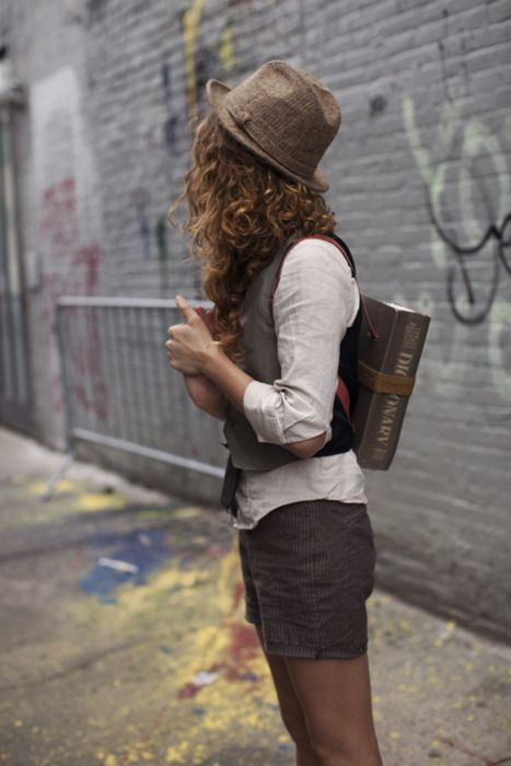 dictionary on her back...The Sartorialist: On the Street…Rivington St., New York