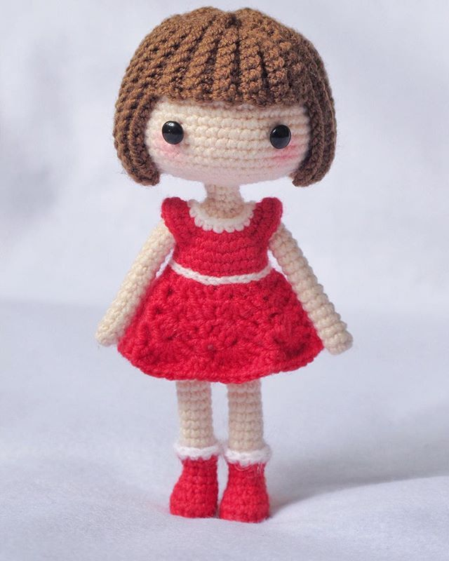 Amigurumi Curly Doll : Crochet hair amigurumi creatys for