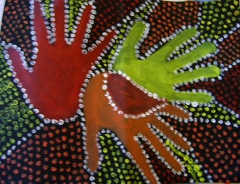 les mains aborigènes - tous artistes!