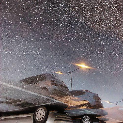 Αντανακλάσεις!!! #reflection #water #parking #cars #lights #updown #nofilter #IaTriDis | by IaTriDis