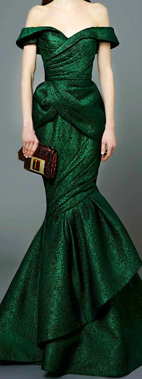 Love this Green Off the Shoulder Dress
