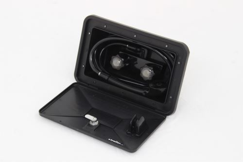 Exterior Shower Box - Black Patrick Distribution RV Showers and Tubs 277-000074