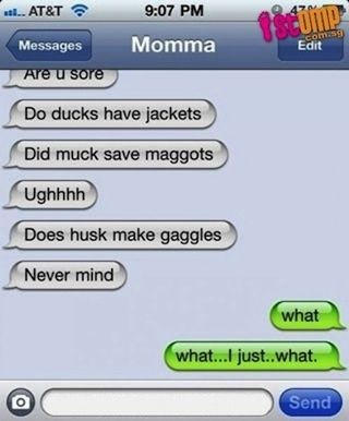 Duck husks: | The 30 Most Hilarious Autocorrect Struggles Ever  - can't stop laughing...XD