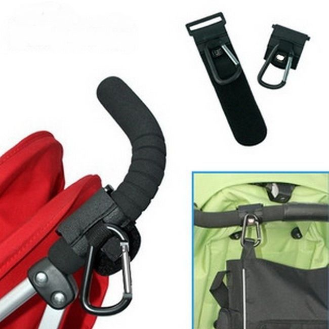 High Quality 1 Piece Baby Stroller Hook Clips Pram hooks Accessories For Baby Car Carriage Outdoor Carrige Hanging W20