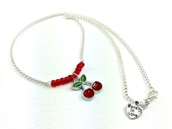 Rockabilly Kitsch Cherry Necklace Retro 1950s by KitschBride