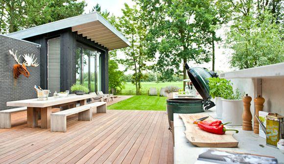 Moodboard groene tuin zwart wit accenten interieur design by nicole fleur outdoor living - Tuin interieur design ...