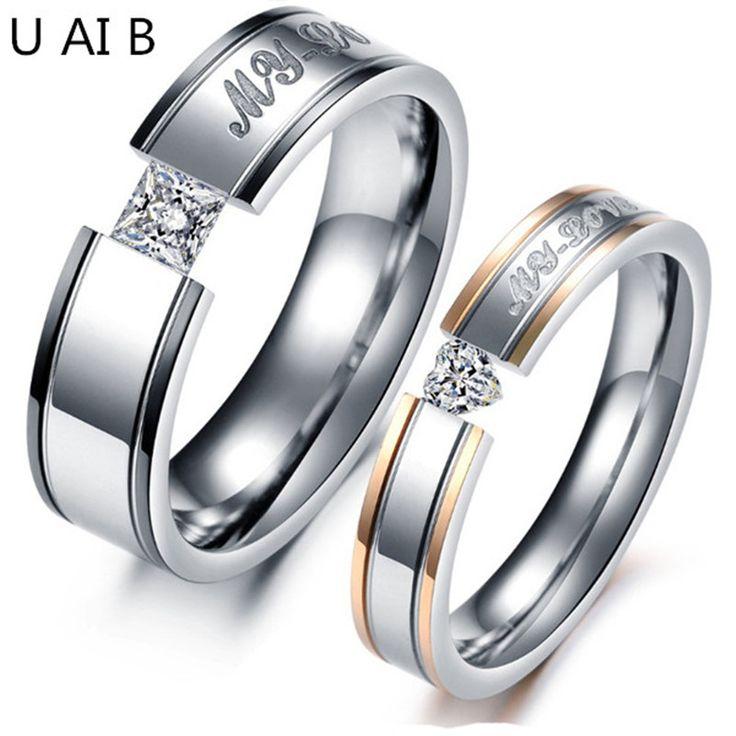 حبي الأسود روز مطلية بالذهب مقلد الماس التيتانيوم الصلب حلقات زوجين حلقات الذكور والإناث نماذج ثمن 1 قطعة