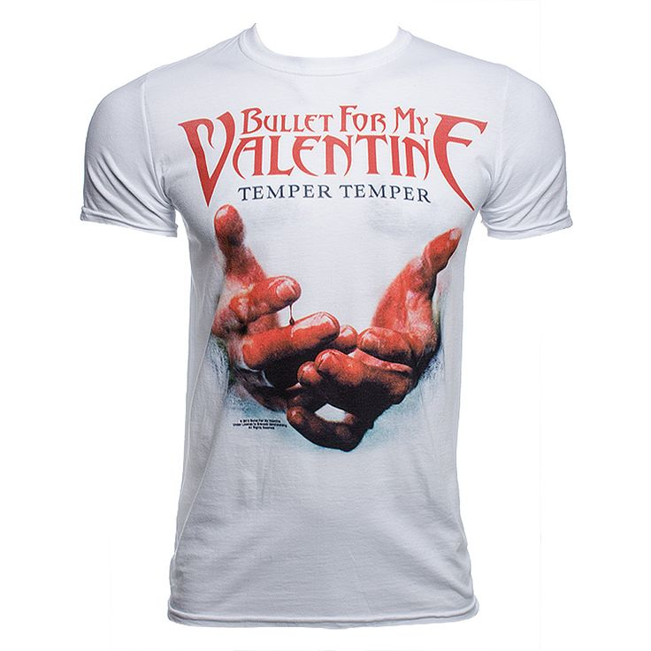 Schön Bullet For My Valentine Temper Temper Blood Hands T Shirt (White)