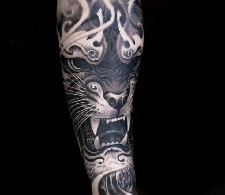 Black Tiger tattoo by Victor Portugal