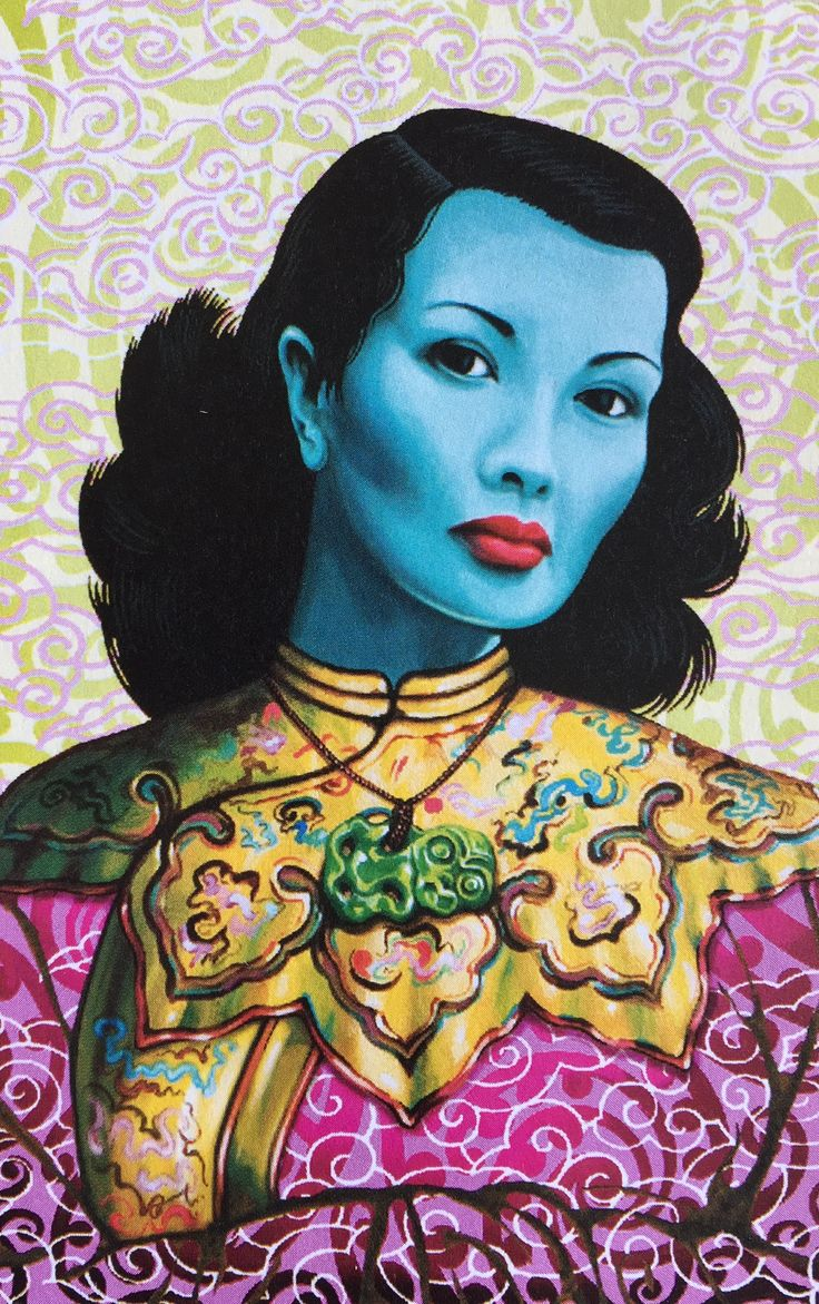 Qipao inspired art by Lester Hall