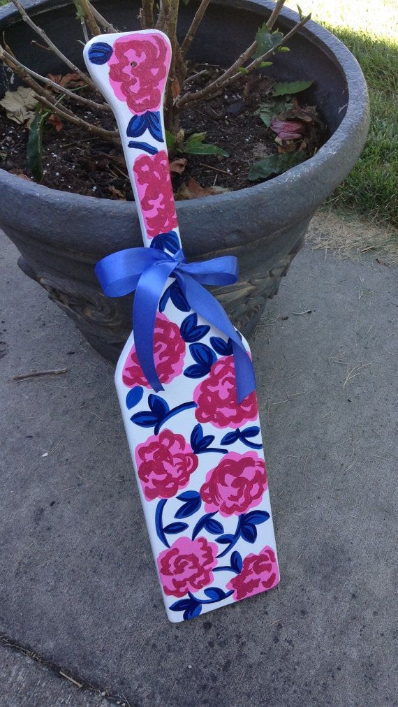 Lilly Pulitzer Inspired Hand Painted paddle by KraftsbyKristie