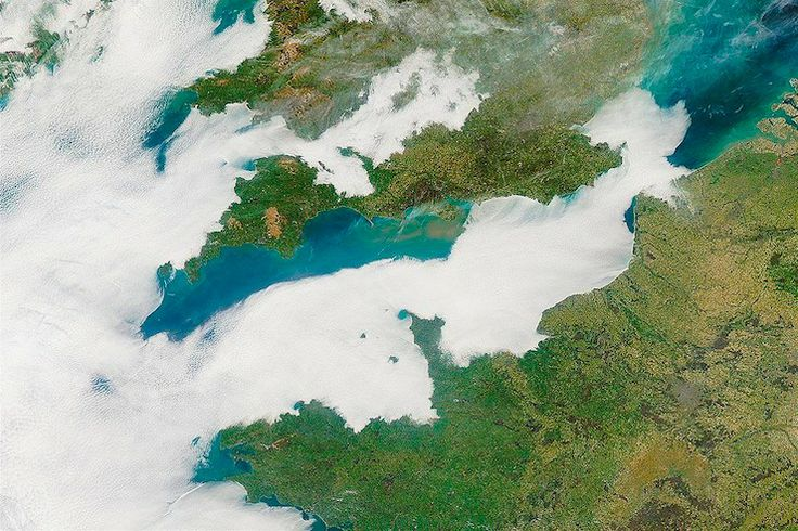 Low clouds over the English Channel
